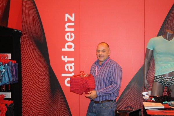 Stand Olaf Benz : le rouge de la marque très présent dans la marque, toujours un peu d'originalité dans la couleur de vos boxers