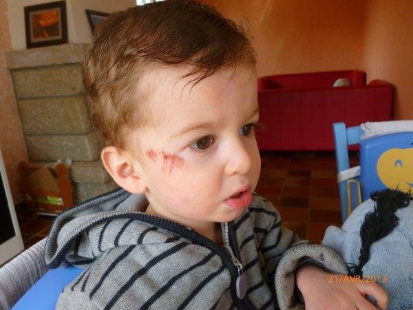 21 avril : Ylan a voulu embrasser le sol