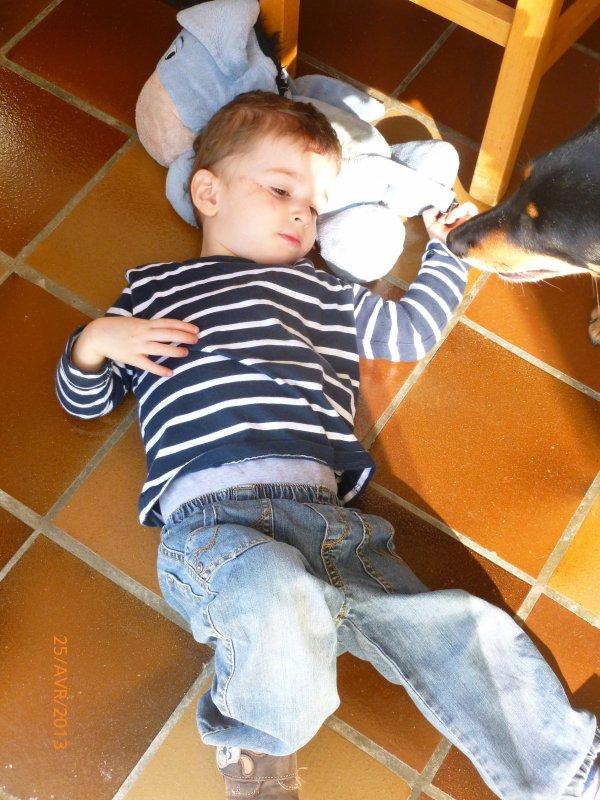 25 avril 2013 : Quand Ylan est fatigué