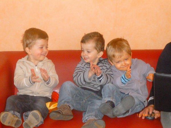 18 mai 2013 : Léo, Ylan et Alex 28 mois
