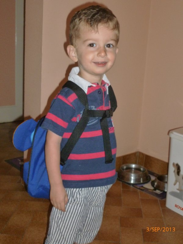 3 sept 2013 : Leur rentrée en TPS (très petite section) à 2 ans et 8 mois