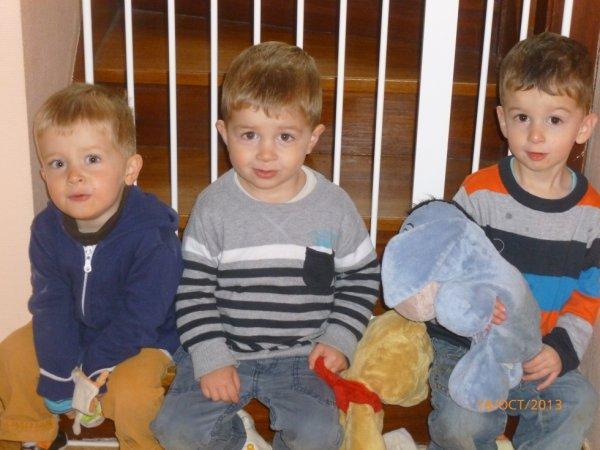 18 octobre 2013 : Alex, Léo et Ylan 2 ans et 9 mois