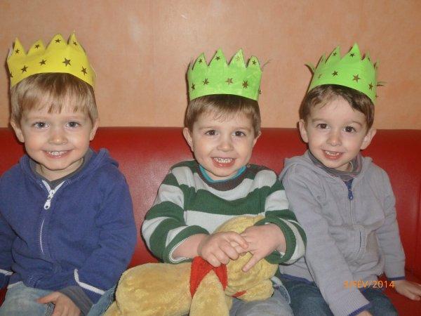 3 février 2014 : Couronnes des rois faîtes à l'école, Alex, Léo et Ylan
