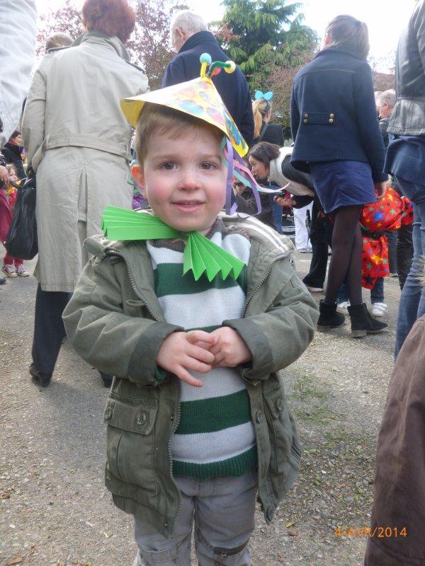 4 avril 2014 : 1er carnaval avec l'école en TPS sur le thème du clown