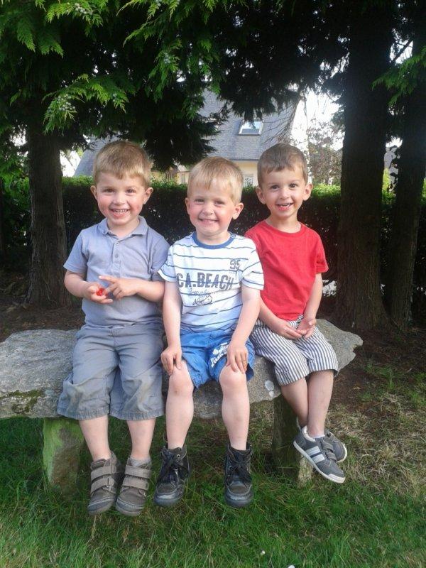 20 juin 2014 : Léo, Alex et Ylan 3 ans et demi