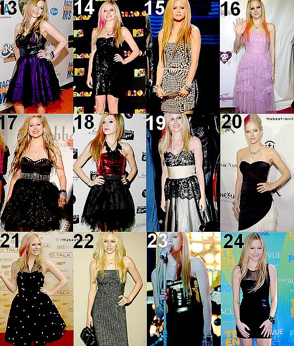 thebest-avril Différentes robes portés par Avril.Laquelle est ta préféré? Celle que tu aimes le moins? (article modifié)