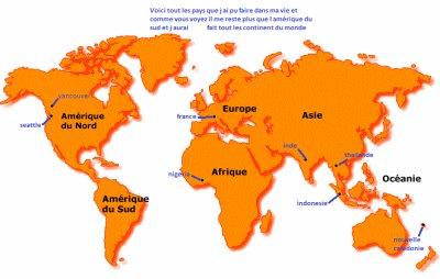 mon prochain objectif l amerique du sud et j aurai fait tout les continent