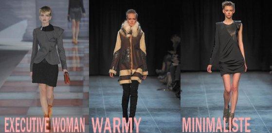 1 - Les genres de la saison : Preppy , Warmy , Retro , Minimaliste , Voluptueuse , Executive Woman !!