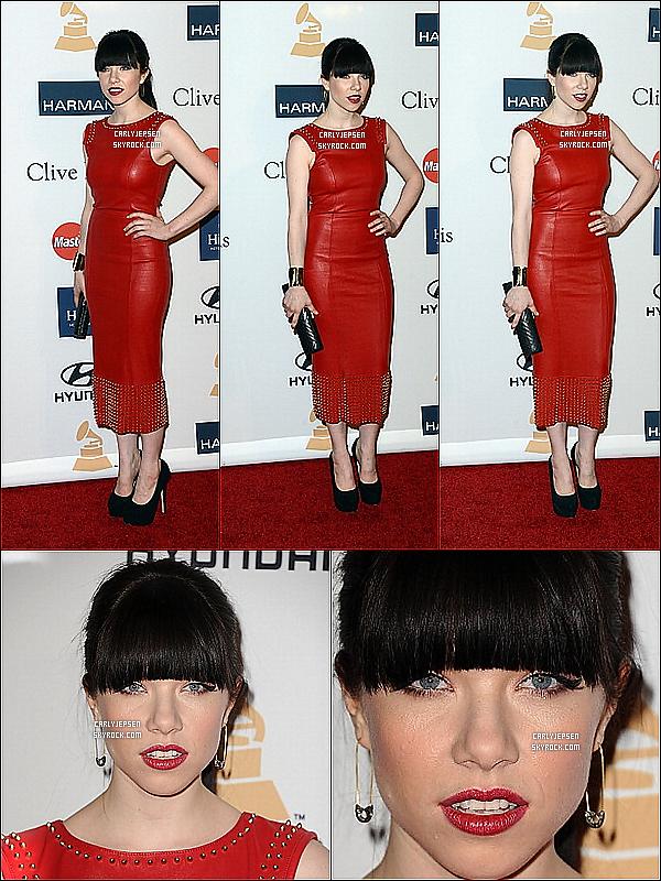 .  09 Février 2013 : Carly Rae Jepsen à été vue aux PRE GRAMMY AWARDS. ( à Los Angeles ) .