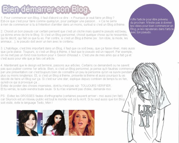 """★ ♛ Astuces pour commencer un Blog ' ♛ ★"""""""
