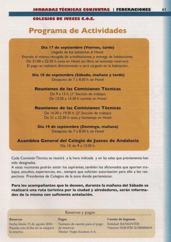 JORNADAS DE COMISIONES TÉCNICAS COE