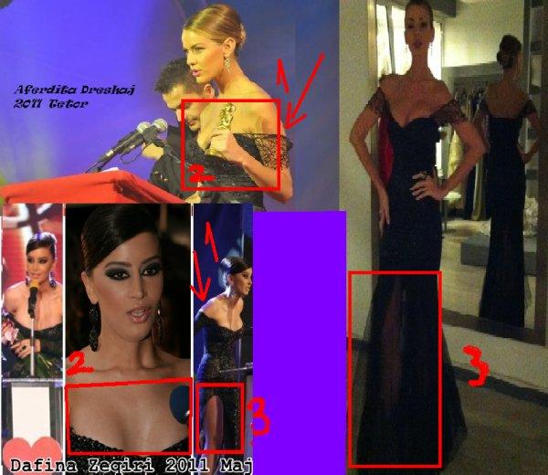 Aferdita Dreshaj kopjon Dafina Zeqirin ne fustan !