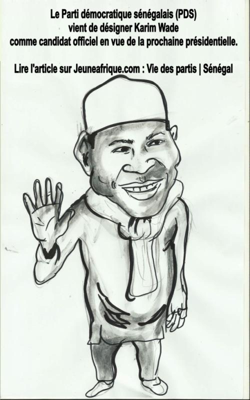 (PDS)  vient de désigner Karim Wade  comme candidat officiel en vue de la prochaine présidentielle.