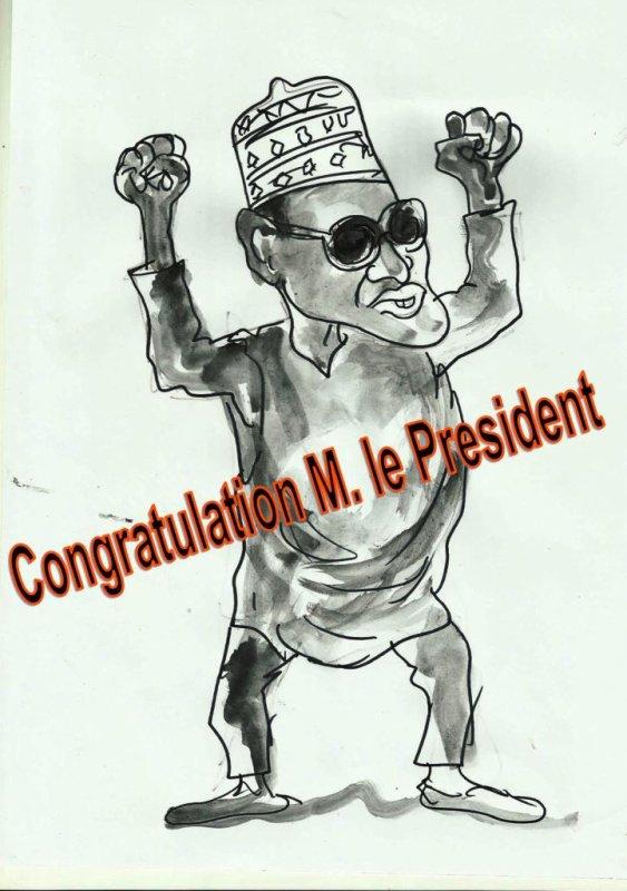 Congratulation M. le President