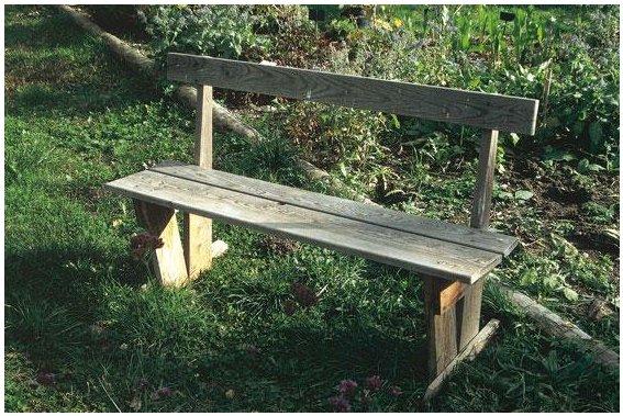 un banc de jardin faire soi m me association des jardins familiaux d 39 harfleur. Black Bedroom Furniture Sets. Home Design Ideas
