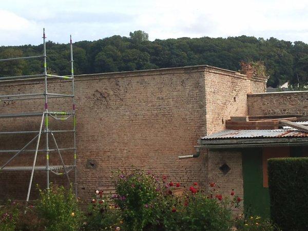 photos des travaux sur les murs