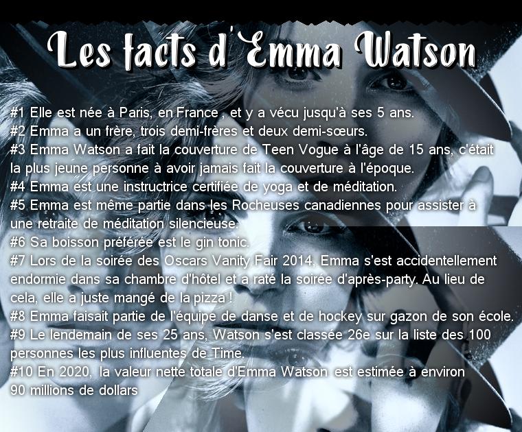 ₪ Les facts des 5W ~ 10 choses à savoir sur Emma