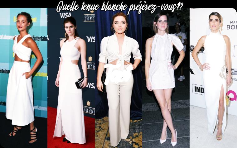 ₪ SONDAGE #22 ~ Quelle tenue blanche préférez-vous ?