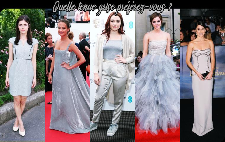 ₪ SONDAGE #23 ~ Quelle tenue grise préférez-vous ?