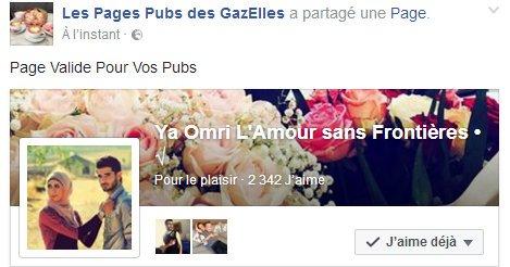 Page Valide pour Vos Pubs
