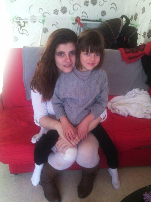 moi et amandine ma fille