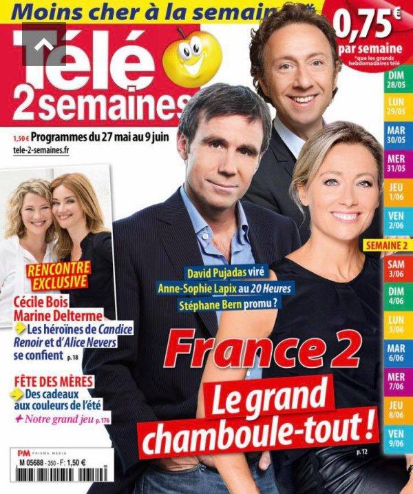 """Dans télé 2 semaines """"TF1, France 2, la rousse, la blonde..."""""""