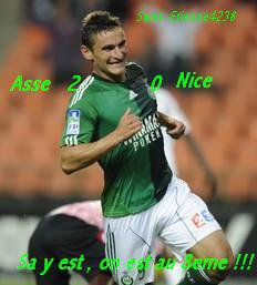 Asse 2-0 Nice coupe de la ligue  16 eme de final