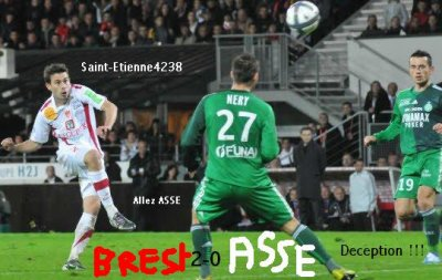 Brest 2-0 Asse ligue 1 2010-2011 match allé