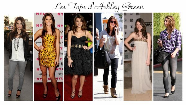 Les tops tenues d'Ashley green