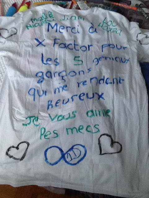 t-shirt d'une fan