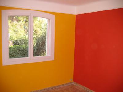 Chambre Peinture Orange Fonce - Maison Design - Edfos.com