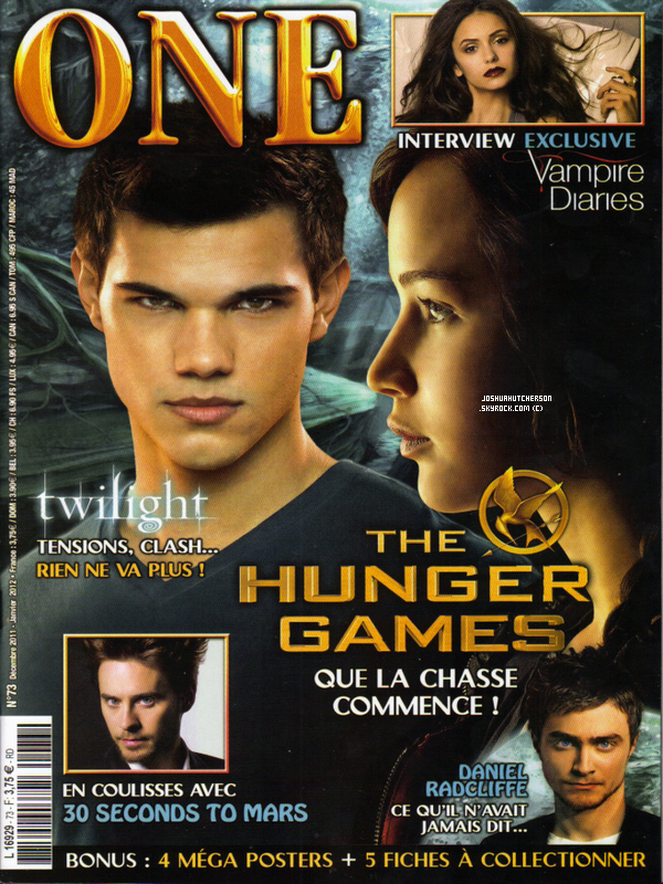 quand le magazine one nous offre du hunger games un des seuls magazine fran ais parl de. Black Bedroom Furniture Sets. Home Design Ideas