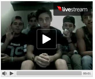 09/09/2013 - Live Chat des garçons + photos des garçons