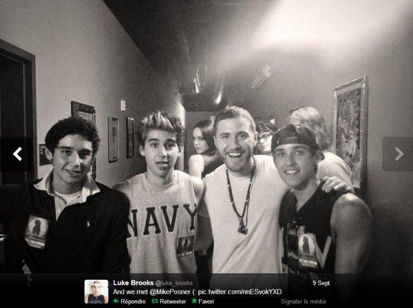 09/09/2013 - Les Brooks Brothers au concert de Ariana