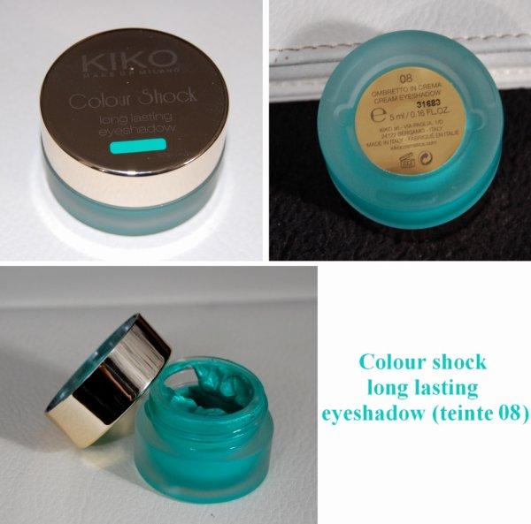 Colour shock long lasting eyeshadow de chez KIKO