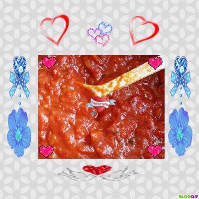 Sauce tomate fait maison.