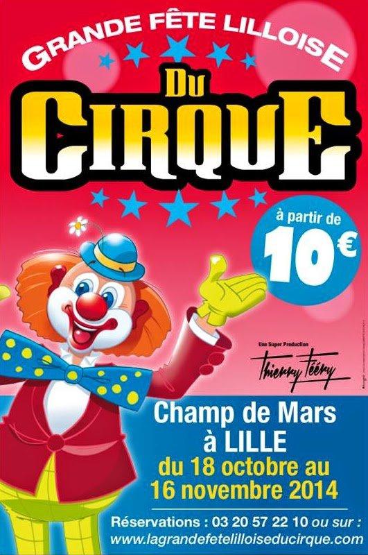 la grande fête lilloise du cirque 2014 affiche