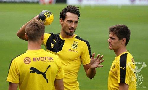 Les joueurs cette semaine (26/07) (Hummels,Hofmann,Aubameyang,Leitner,Schmelzer,Bender,Mkhitaryan,Reus)