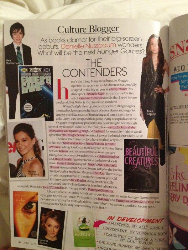 ■ [ Presse ]  Teen Vogue, Avril 2012