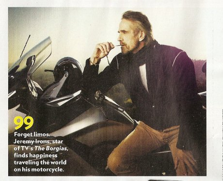 ■ [ Jeremy Irons ]  Dans le magazine People, Avril 2012