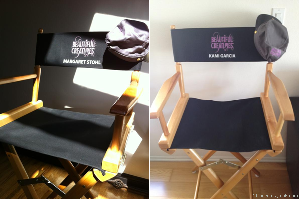 ■ [ On The Set ]  Les chaises de Margaret & Kami