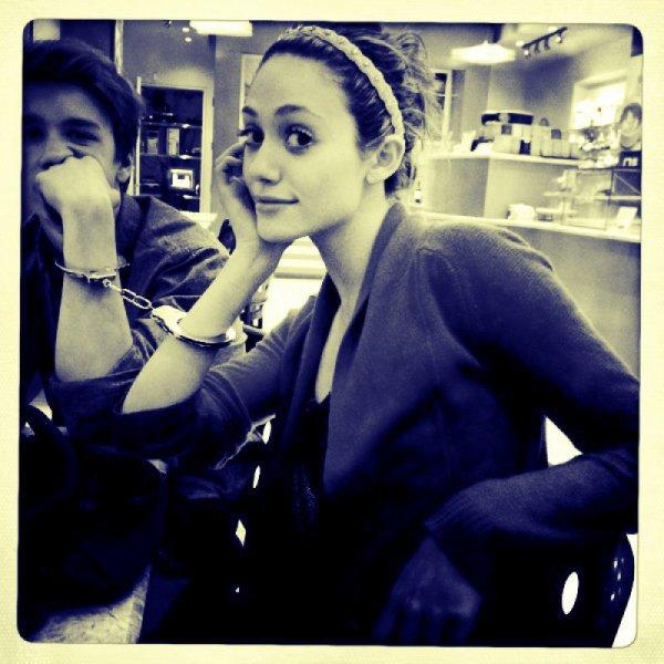 ■ [ Tournage ]  Emmy & Thomas sur le set