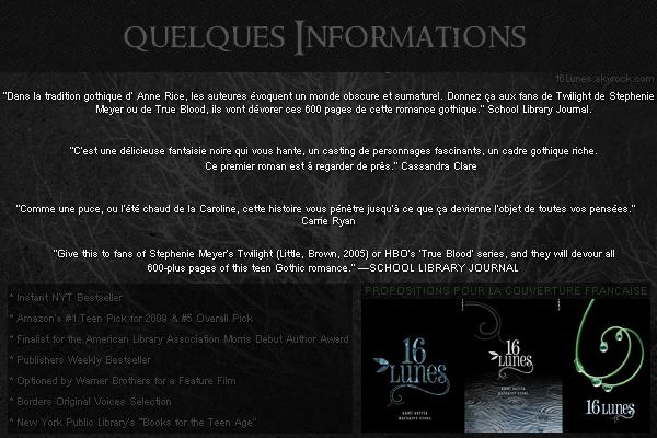 ■ [ 16 Lunes ]  Informations, Critiques