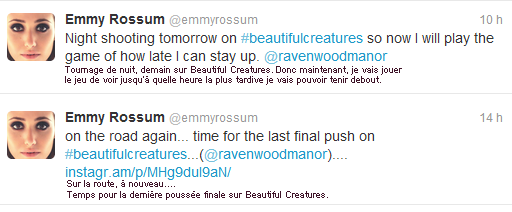 ■ [ Emmy Rossum ]  De retour en Louisiane pour terminer ses scènes