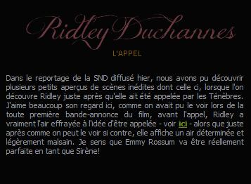 ■ [ Sublimes Créatures ]  Ridley Duchannes après l'appel