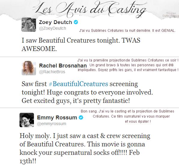 ■ [ Sublimes Créatures ]  Les avis sur le film par les acteurs
