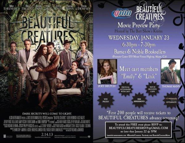 ■ [ Sublimes Créatures ]  Thomas et Zoey seront à un évènement exceptionnel à Atlanta !