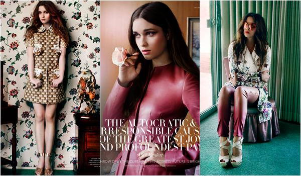 ■ [ Alice Englert ]  Nouveau photoshoot d'Alice pour Flaunt Magazine