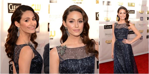 ■ [ Emmy Rossum ]  18th Annual Critics' Choice Movie Awards - 10 Janvier 2013