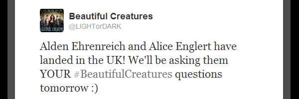 ■ [ Sublimes Créatures ]  Alice et Alden viennent d'arriver en Angleterre